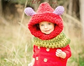 Caterpillar hood caterpillar hat Crochet caterpillar Hungry caterpillar PDFpattern Crochet Pattern only!