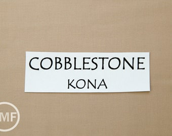One Yard Cobblestone Kona Cotton Solid Fabric from Robert Kaufman, K001-486