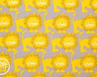 Hokkoh Lions in Yellow, Hokkoh Fabrics, 100% Cotton Twill Fabric, 71-205-3D