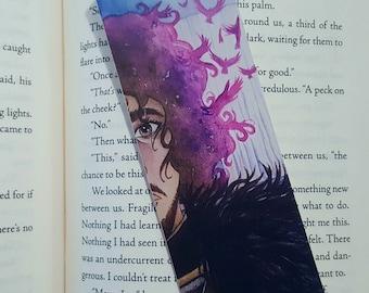Jon Snow Watercolor Bookmark, Game of Thrones, 2x6