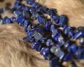 Lapis Lazuli Chip Beads- 5-8 mm- 34 inch Strand
