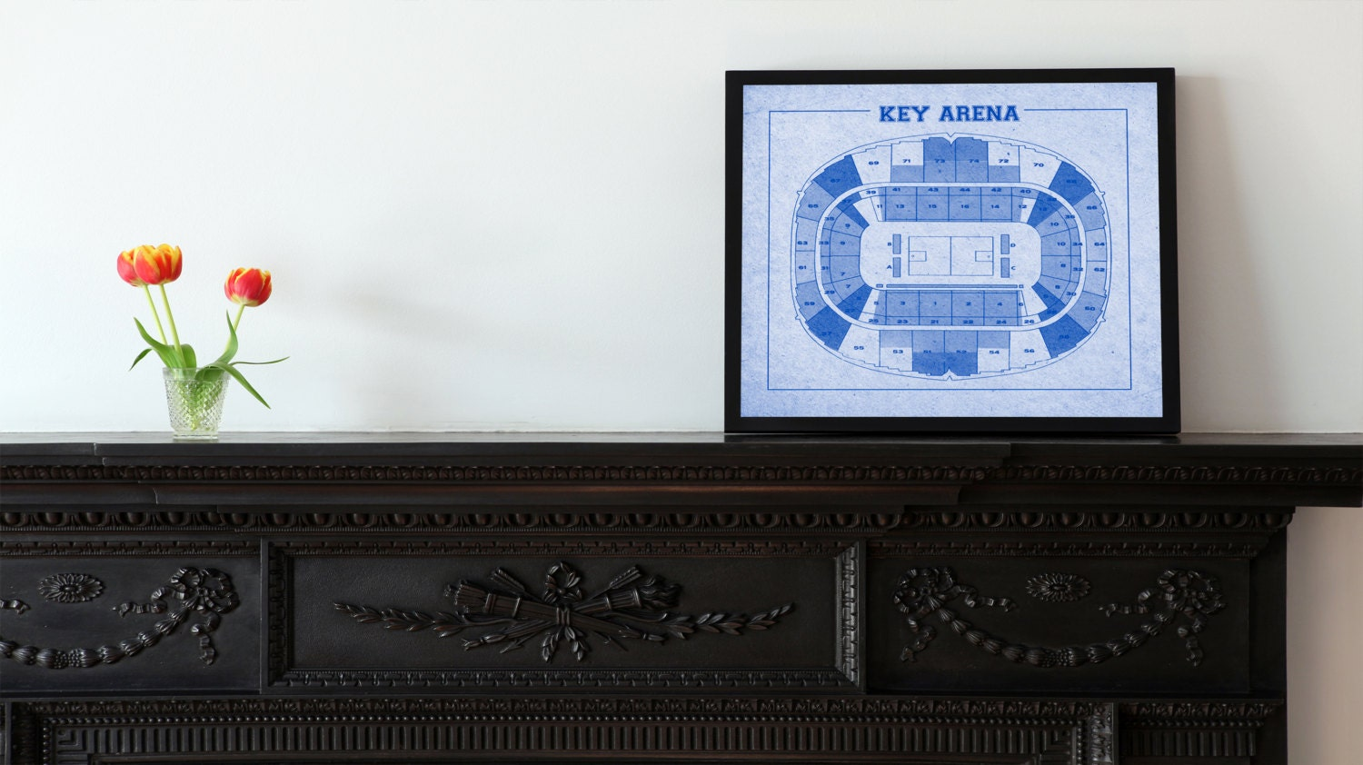 Vintage print of key arena seating chart free shipping seattle vintage print of key arena seating chart free shipping seattle supersonics blueprint photo matte canvas home decor nba sports wall frame mlb malvernweather Images
