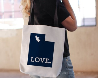 Utah State Tote Bag // Travel Gift // College University Student Gift Idea // Free US shipping