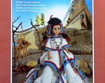 "20%OFF Fibre Fiber Craft INDIAN PRINCESS 15"" Fashion Indian Doll - Crochet Doll Dress Clothes Clothing Pattern"