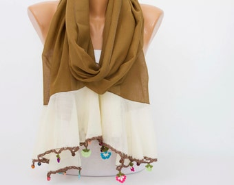 Summer scarf ,oya scarf ,ethnic scarf ,gift idea
