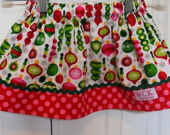 Clearance Christmas  Ornaments   skirt ( 2t, 3t, 4t, 5t, 6, 7)
