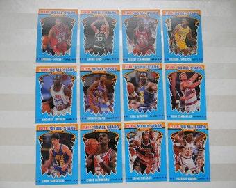 BASKETBALL, , 1990 Fleer Basketball All Stars, 12 Card Set