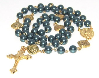 Stella Maris Catholic Rosary Beads / Our Lady Star of the Sea