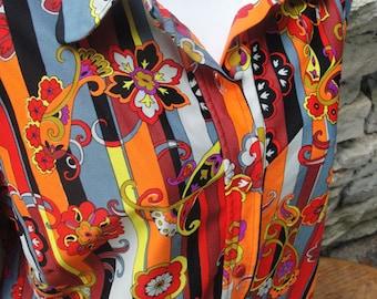 70s Hippie Disco Flower Power Shirt M/L Unisex Halloween