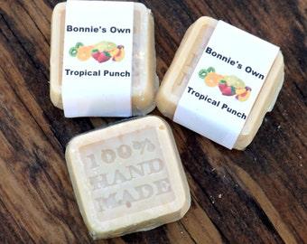 Tropical Punch, Goats Milk Soap, 2 oz bar, Cold Process Soap, Summer Soap, Sweet Soap, Raspberry Tea, Strawberry, Tangerine, Sour Candy Soap