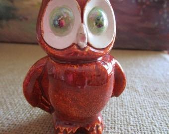 Ceramic Owl     Hand Made   Fall/Autumn Decor