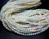 18'' So Gorgeous Beautiful High Quality Ethiopian Opal Smooth Round Ball Beads 3 to 5MM Approx