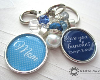 Beaded Keychain Mother Gift, mother's day, birthday gift for mom, Personalized, aunt, bling, beaded, mother in law, god mother
