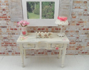 Dollhouse miniature shabby/vintage chic sideboard - OOAK