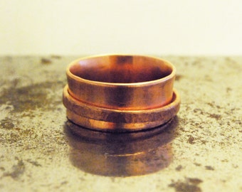 Hand Forged Copper Spinner Ring