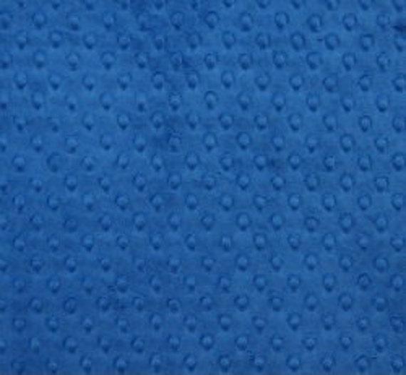 Minky Cuddle Dimple Dot Fabric,Blue Cuddle Fabric,Dark Blue Minky Dot Fabric,SUPER SOFT Minky Fabric,Minky Blanket Fabric,Fabric by The YARD