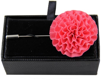 Men's lapel pin brooch chest coral flower for Formal Occasions