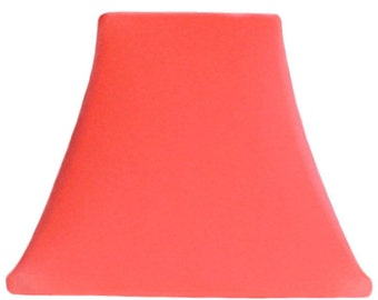 Salmon slip cover for your existing lampshade - STRETCHES to fit perfectly