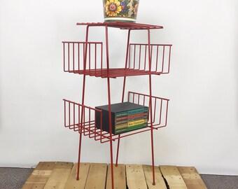 mid century wire shelf wire stand
