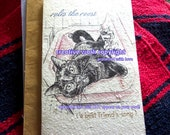 rules the roost / black cat card/ cat in sink / personalize/storybook /unique empathy condolence /pet sympathy/pet cards