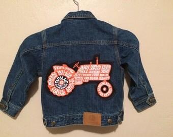 Farm-aid John Deere kids denim trucker jean jacket size 4T