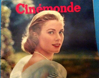 Rare Authentic Cinemonde French Magazine1956 of Grace Kelly in the Film High Society