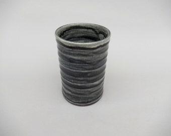 Wine Chiller - Charcoal Gray Glazed Terracotta