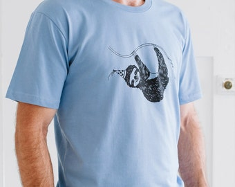 Mens Tee Party Sloth