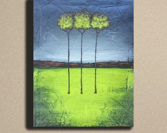 16x20 ORIGINAL Painting by Derek Patterson (Textured Tree Art) Metallics