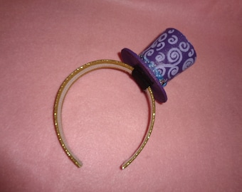 Purple Mini Tophat Headband