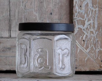 Vintage Barbasol Glass Jar, Shaving Cream, Shaving Soap, Antique Bathroom Decor