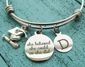 college graduation gift, for graduate, high school graduation gift for her, she believed she could so she did, senior student gift, congrats