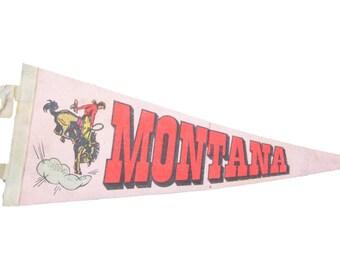 Vintage Montana Felt Flag Banner