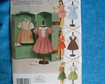 simplicity 1244, 18 inch doll dresses .