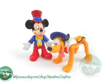 Vintage Mickey and Pluto Toys EPCOT Adventure Set 1990s Toys