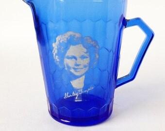 Shirley Temple cobolt blue small creamer