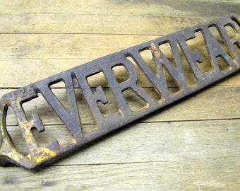 Rusty Old Cast Iron Everwear Playground Slide Ladder Step