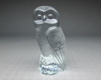 Glass owl , Eda Kristall Nya Glasbruket Sweden