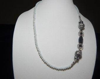 Black and White Victorian Necklace