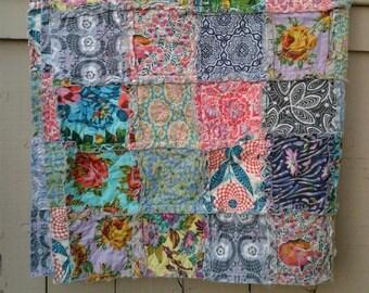 Rag Quilt THROW size - CUSTOM - Designer Fabric Collections TBD