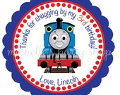 SET OF 12, Thomas the Train Favor Tags