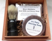 Spiced Mahogany Scented Cigar Box Deluxe Shave/Shaving Set Kit - Punch