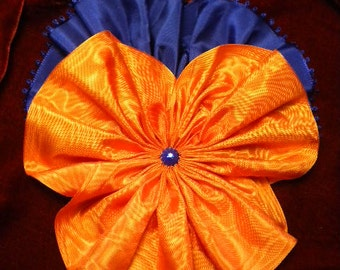 Giant Pansy Ribbon Flower Millinery Applique