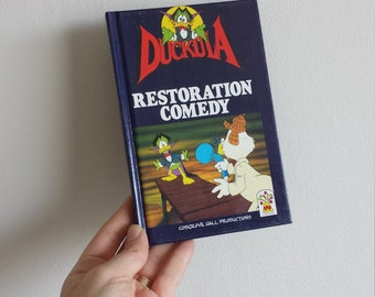 Count Duckula Notebook handmade from a vintage Book 1980s