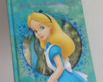 Alice in Wonderland Notebook handmade from a Disney book