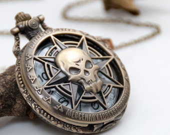 1pcs Antique Bronze   Watch Charms Pendant with chain ty144747