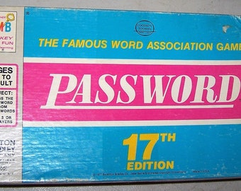 Vintage 17th Edition Password Game