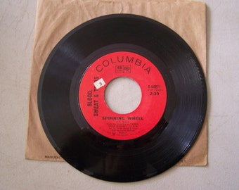 """Vintage 1960's 45 rpm Vinyl Record """"Spinning Wheel"""" By Blood Sweat and Tears"""