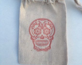 Sugar Skull Day of the Dead Bags / Set of 35/Halloween Party Favors