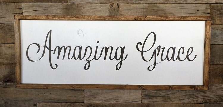 Large Wood Sign Amazing Grace Subway Sign By Dustinshelves